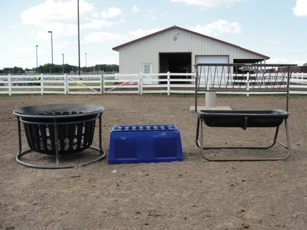 photo of different bale feeders