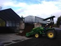 manure composting operation on horse farm