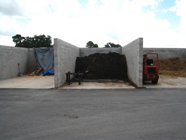 an example of a concrete manure storage area