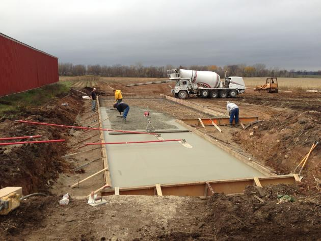 concrete pads for installation