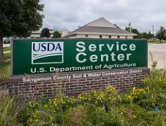 usda service center sign